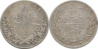 5 Qirsh  Ägypten Abdul Hamid II. ss  12,00 EUR  +  3,00 EUR shipping