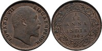 1/12 Anna 1905 British India Edward VII., 1901-1910 Fast Stempelglanz  85,00 EUR  +  3,00 EUR shipping