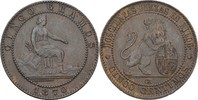 5 Centimos 1870 OM Spanien Prov. Regierung vz  40,00 EUR  +  3,00 EUR shipping