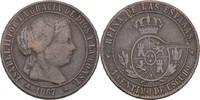 1 Centimo 1867 OM Spanien Isabel II., 1833-68 ss Druckstelle  7,00 EUR  +  3,00 EUR shipping