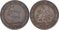 1 Centimo 1870 OM Spanien Prov. Regierung ss+  10,00 EUR  +  3,00 EUR shipping