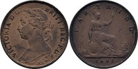 1 Farthing 1881 England Victoria, 1837-1901 vz  33.30 US$ 29,00 EUR  +  4.59 US$ shipping