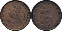 1 Farthing 1881 England Victoria, 1837-1901 vz  29,00 EUR  +  3,00 EUR shipping