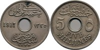5 Milliemes 1917 Ägypten Hussein Kamil, 1914-17 vz  10,00 EUR  +  3,00 EUR shipping