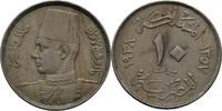 10 Milliemes 1938 Ägypten Farouk, 1936-52 vz  11.48 US$ 10,00 EUR  +  3.44 US$ shipping
