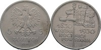 5 Zloty 1930 Polen  ss  172.23 US$ 150,00 EUR  +  4.59 US$ shipping