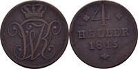 4 Heller 1815 Hessen Kassel Wilhelm I., 1813-1821 ss  23,00 EUR  +  3,00 EUR shipping
