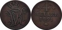 4 Heller 1821 Hessen Kassel Wilhelm I., 1813-1821 ss  28,00 EUR  +  3,00 EUR shipping