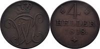4 Heller 1818 Hessen Kassel Wilhelm I., 1813-1821 ss  23,00 EUR  +  3,00 EUR shipping