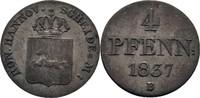 4 Pfennig 1837 Königreich Hannover Wilhelm IV., 1830-1837 ss  10,00 EUR  +  3,00 EUR shipping