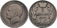2 Dinara 1879 Serbien Milan IV. Obrenowitsch, 1868-82 ss kl. Randfehler  30,00 EUR  +  3,00 EUR shipping