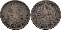 50 Centavos 1881 Mexico  Kratzer, f.ss  25,00 EUR  +  3,00 EUR shipping