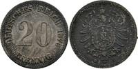 20 Pfennig 1876 Deutsches Reich  fleckige Tönung, vz  15,00 EUR  +  3,00 EUR shipping
