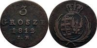 3 Grosze 1812 Polen Warschau Friedrich August von Sachsen, 1807 - 1814 ss  35,00 EUR  +  3,00 EUR shipping