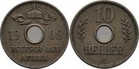 10 Heller 1909 DOA Deutsch Ostafrika  f.vz  28,00 EUR  +  3,00 EUR shipping