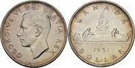 1 Dollar 1951 Kanada George VI., 1936-52 vz+  50,00 EUR  +  3,00 EUR shipping