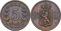 5 Öre 1899 Norwegen Oscar II., 1872-1907 ss  8,00 EUR  +  3,00 EUR shipping