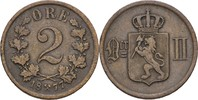 2 Öre 1877 Norwegen Oscar II., 1872-1907 ss  8,00 EUR  +  3,00 EUR shipping