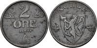 2 Öre 1944 Norwegen Haakon VII., 1905-57 vz fleckig  35,00 EUR  +  3,00 EUR shipping