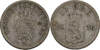 10 Öre 1876 Norwegen Oscar II., 1872-1907 fast ss  15,00 EUR  +  3,00 EUR shipping
