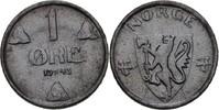1 Öre 1943 Norwegen Haakon VII., 1905-57 vz zaponiert  10,00 EUR  +  3,00 EUR shipping