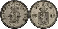 10 Öre 1901 Norwegen Oscar II., 1872-1907 ss  25,00 EUR  +  3,00 EUR shipping