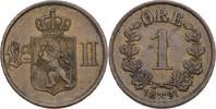 1 Öre 1891 Norwegen Oscar II., 1872-1907 vz  25,00 EUR  +  3,00 EUR shipping