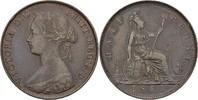 1/2 Penny 1861 England Victoria, 1837-1901 vz  25,00 EUR  +  3,00 EUR shipping