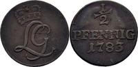 1/2 Pfennig 1783 Sachwarzburg Rudolstadt Ludwig Günther II. 1767-1790 ss  15,00 EUR  +  3,00 EUR shipping