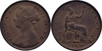 1/2 Penny 1876 H England Victoria, 1837-1901 fast vz schöne Tönung  50,00 EUR  +  3,00 EUR shipping