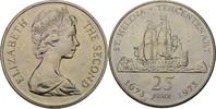 25 Pence 1973 St. Helena Elisabeth II. vz kl. Kratzer  7,00 EUR  +  3,00 EUR shipping