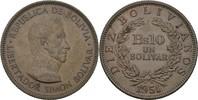 10 Bolivianos (1 Bolivar) 1951 Bolivien Simon Bolivar prägefrisch  10,00 EUR  +  3,00 EUR shipping