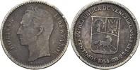 50 Centimos 1954 Venezuela  ss-  5,00 EUR  +  3,00 EUR shipping