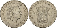 2 1/2 Gulden 1964 Niederl. Antillen Juliana, 1948-80 vz+  20,00 EUR  +  3,00 EUR shipping