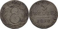 3 Kreuzer 1818 S Sachsen Coburg Saalfeld Ernst I., 1806-26 ss-  25,00 EUR  +  3,00 EUR shipping