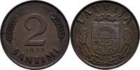 2 Santimi 1939 Lettland  vz  7,00 EUR  +  3,00 EUR shipping