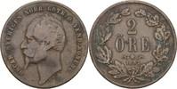 2 Öre 1857 L.A. Schweden Oscar I., 1844-59 fast ss  7,00 EUR  +  3,00 EUR shipping