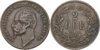 2 Öre 1857 L.A. Schweden Oscar I., 1844-59 ss  10,00 EUR  +  3,00 EUR shipping