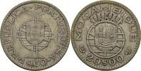 20 Escudos 1960 Port. Mosambik  ss  15,00 EUR  +  3,00 EUR shipping