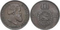 20 Reis 1869 Brasilien Petrus II., 1831-89 ss  10,00 EUR  +  3,00 EUR shipping