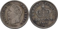 20 Centimes 1867 BB Frankreich Napoleon III., 1852-70 ss  10,00 EUR  +  3,00 EUR shipping