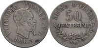 50 Centesimi 1863 NBN Italien Vittorio Emanuele II., 1861-78 ss  20,00 EUR  +  3,00 EUR shipping