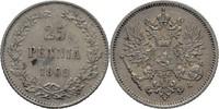 25 Penniä 1909 L Finnland Nikolaus II., 1894-1917 vz  30,00 EUR  +  3,00 EUR shipping