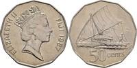 50 Cents 1987 Fidschi Inseln Elisabeth II., 1952-heute prägefrisch  7,00 EUR  +  3,00 EUR shipping