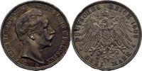 3 Mark 1909 Preussen Wilhelm II., 1888-1918. kl. Randschlag, ss  20,00 EUR  +  3,00 EUR shipping