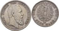 5 Mark 1875 Württemberg Stuttgart Karl, 1864-1891 Randschläge, ss  50,00 EUR  +  3,00 EUR shipping