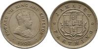 1 Farthing 1902 Jamaika Edward VII., 1901-10 fvz/vz, Randunebenheiten  20,00 EUR  +  3,00 EUR shipping
