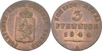 3 Pfennige 1844 Reuss jüngere Linie Heinrich LXII. 1818-1854 ss  25,00 EUR  +  3,00 EUR shipping