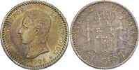 50 Centimos 1904 (10) PCV Spanien Alfonso XIII., 1886-1931 vz  20.89 US$ 19,00 EUR  +  3.30 US$ shipping