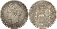50 Centimos 1896 PGV Spanien Alfonso XIII., 1886-1931 ss/vz  60,00 EUR  +  3,00 EUR shipping